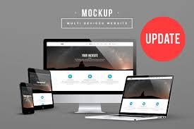 Website Mockup Template Adorable Multi Devices Website Mockup UPDATE Product Mockups Creative Market
