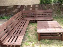 pallet outdoor bench diy. DIY Pallet Sectional Sofa And Table Ideas Outdoor Bench Diy