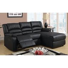 Black Leather Sectional Sofa With Recliner Sofas Amazing Double Recliner Leather Sectional Sofa