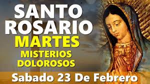 Santo Rosario de hoy Martes 23 de febrero 2021 Misterios Luminosos -  Evangelio De Hoy - YouTube