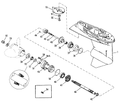 Mercury mariner 50 55 60 hp jet 45 gear housing propeller shaft