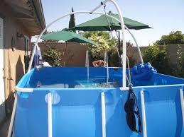 lap pool above ground