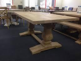 wooden dining furniture. Interior, 180cm Pedestal Solid Honey Wash Mango Wood Dining Table Montego Unique Superb 2: Wooden Furniture