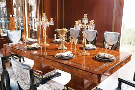 luxury italian style classical laura formal dining table by bergamo