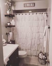 Apartment bathroom ideas shower curtain Diy Awesome 53 Vintage Farmhouse Bathroom Ideas 2017 Pinterest Kitchen Press Vintage Farmhouse Interiors And Apartments