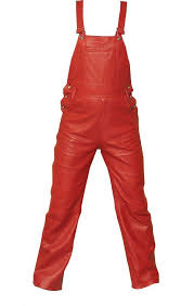 Mens Carhartt Bibs Size Chart Mens Red Leather Bib Overalls New In 2019 Leather
