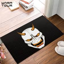 outdoor front door matsAliexpresscom  Buy CHARM HOME Strange mask Art Door Mat Rug