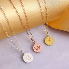 friends tiny letter necklace