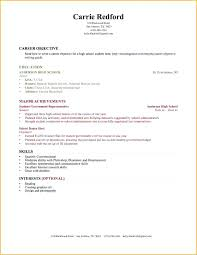 Resume Examples No Experience No Experience Resume Template High