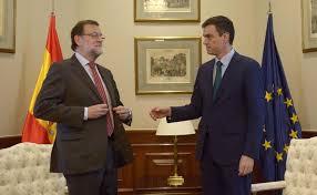 Resultado de imagen de Pedro Sanchez y Rajoy