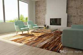 top quality brown patchwork cowhide rug stripes design rug dealers shaw carpet s from rugfur 803 02 dhgate com