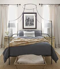 Romantic And Beautiful Iron Canopy Bed  Modern Wall Sconces And Canopy Iron Bed