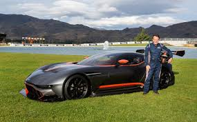 aston martin vulcan. only two drivers have ever been behind the wheel of this track-only car, v8 supercar icon craig lowndes being other. with a 320 km/h top speed and aston martin vulcan