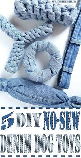 5 diy no sew recycled denim dog toys
