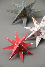 Paper Decorations Christmas Diy 3d Paper Star Christmas Decorations Gathering Beauty