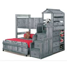 cool bunk bed fort. Driftwood Rustic Twin-over-Full Loft Bed - Fort Cool Bunk I
