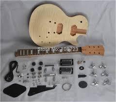 diy guitar kit flying v kaynor diy mahogany flamed maple electric guitar kit dual