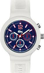 men s lacoste watches watchtag com lacoste borneo white silicone chronograph men s watch 2010705