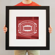 Bryant Denny Stadium Map Art
