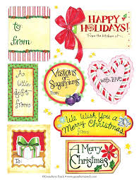 Holiday Address Label Templates Holiday Tag Templates Free Mailing Label Printable Name Tags