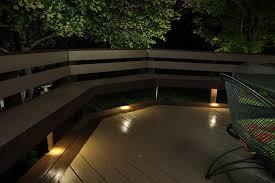 outdoor led deck lights. dekor led recessed down lights provide subtle lighting under deck benches outdoor led