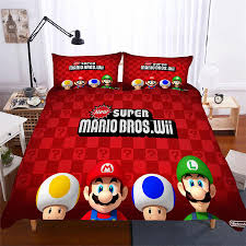 helengili 3d bedding set mario print duvet cover set lifelike bedclothes with pillowcase bed home textiles mla 03 duvet cover bedding from caley