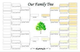 Family History Template Free Family Tree Templates Word