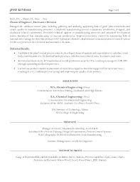 Resume Templates Engineering Best Process Engineer Sample Resume Cover Letter For Process Engineer