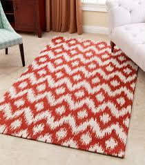 ellie orange new zealand wool rug 3 x 5