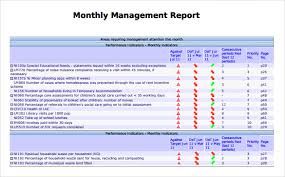 Simple Report Template Simple Monthly Management Report Template Monthly Report Template