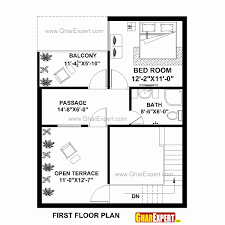 image of 25 x 27 20 30 north face house plan map naksha in floor plans