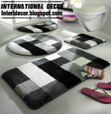 charming black and white bathroom rugs 10 modern bathroom rug sets baths rug sets models colors home