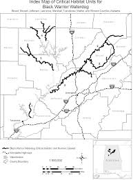 Federal register endangered and threatened wildlife and plants endangered species status for black warrior waterdog and designation of critical habitat