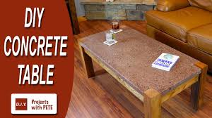 polished concrete furniture. How To Make A Concrete Table - Polished Top With Recycled Glass YouTube Furniture