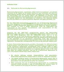 Partnership Agreement Template Images Letter Standard Maker App ...