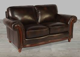 savannah collection 70 100 full grain leather loveseat with nailheads