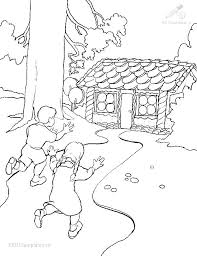 1001 Kleurplaten Fantasie Hans En Grietje Kleurplaat Hans En