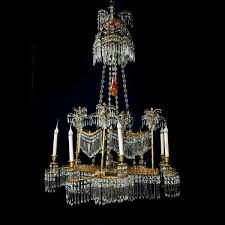 a spectacular antique period russian palm tree chandelier