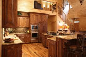Contemporary Rustic Cabin Kitchens O Throughout Perfect Design