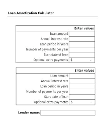 Car Loan Amortization Schedule With Extra Payments Excel Template