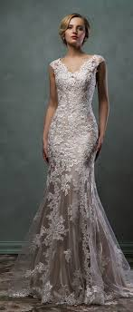 Best 25 Champagne Lace Wedding Dress Ideas On Pinterest Reem