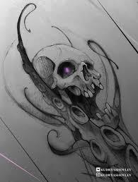Skull Sketch Tattoo Art Octopus Tattoo Sea Inspirationi Like