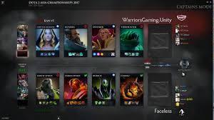 dota 2 live faceless vs warrior gaming dac 2017 sea a qualifier
