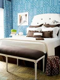 Blue bedroom colors Relaxing Blue Wallpaperm Brown And White Bedding Lushome Light Blue Bedroom Colors 22 Calming Bedroom Decorating Ideas