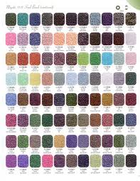 11 0 Size Colour Chart Iii Beading Bead Size Chart