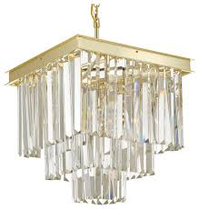 retro odeon crystal glass fringe 3 tier chandelier gold contemporary chandeliers