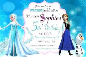 Frozen Invites Frozen Party Invitations With Frozen Party Invitations Kids Invites