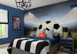 Great Soccer Themed Bedroom Decor For Kids