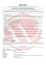 Selenium Testing Resume Selenium Sample Resumes Download Resume Format Templates 17