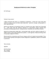 reference letter word format employment recommendation letter for previous employee reference